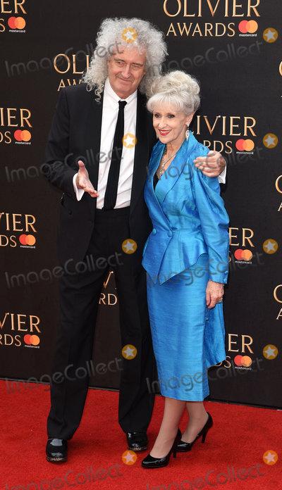 Anita Dobson Photo - London UK Brian May and Anita Dobson at The Olivier Awards 2018 held at The Royal Albert Hall Kensington Gore South Kensington London on Sunday 8 April 2018Ref LMK392-J1868-090418Vivienne VincentLandmark Media WWWLMKMEDIACOM