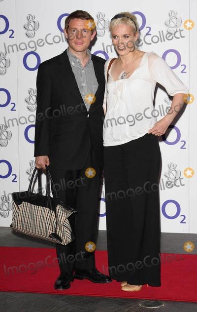 Amanda Abbington Photo - LondonUK  Martin Freeman and partner Amanda Abbington   at the O2 Silver Clef Awards  Hilton Hotel Park Lane London 3rd July 2009 Keith MayhewLandmark Media
