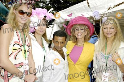 Sally Farmiloe Photo - London Jodie Kidd Sally Farmiloe Louis Marette Danise Hewitt and Hannah Sandling at the launch of Louis Mariettes new Pure hat collection at the Coral-Eclipse Ladies Day Sandown Park2 July 2005Ali KadinskyLandmark Media