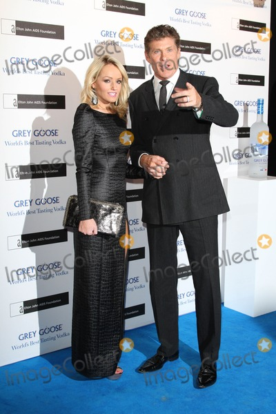 Hayley Roberts Photo - London UK 101112Hayley Roberts and David Hasselhoff at the Elton John AIDS Foundation Grey Goose Winter Ball held at the Battersea Power Station10 November 2012Keith MayhewLandmark Media