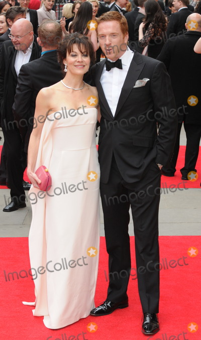 Damien Lewis Photo - London UK Damien Lewis and Helen McCrory at Olivier Awards 2013 at The Royal Opera House Covent Garden 28th April 2013Matt LewisLandmark Media