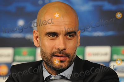 Bayern Munich Photo - London UK  Bayern Munich manager Pep Guardiola at a press conference at the Landmark Hotel before their game against Arsenal in the Champions League match against Arsenal Bayern Munich won the game 2-0 on the 19th February 2014  Press conference 17th February 2014 RefLMK326-47733-210214  Matt LewisLandmark Media WWWLMKMEDIACOM