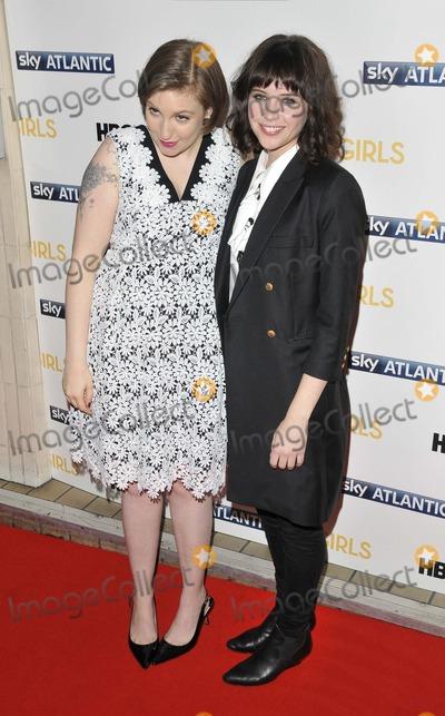 Lena Dunham Photo - London UK Lena Dunham  Felicity Jones at  the Girls UK TV premiere Cineworld Haymarket Haymarket on Wednesday January 15 2014 in London England UKRef LMK315-46394-160114Can NguyenLandmark Media WWWLMKMEDIACOM