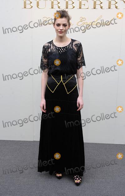 Amber Anderson Photo - London UK Amber Anderson at the Burberry Prorsum fashion show- AutumnWinter 2016 during London Fashion Week 2016 London Britain 22nd Feb 2016Ref LMK200-60019-220216Landmark MediaWWWLMKMEDIACOM