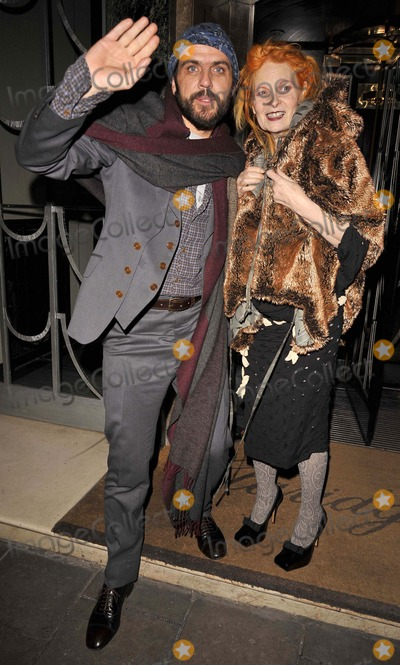 Andreas Kronthaler Photo - LondonUK Fashion designer Vivienne Westwood with partner Andreas Kronthaler at the  10th Anniversary celebration of Claridges Bar Claridges Hotel London 11th November 2008 Can NguyenLandmark Media