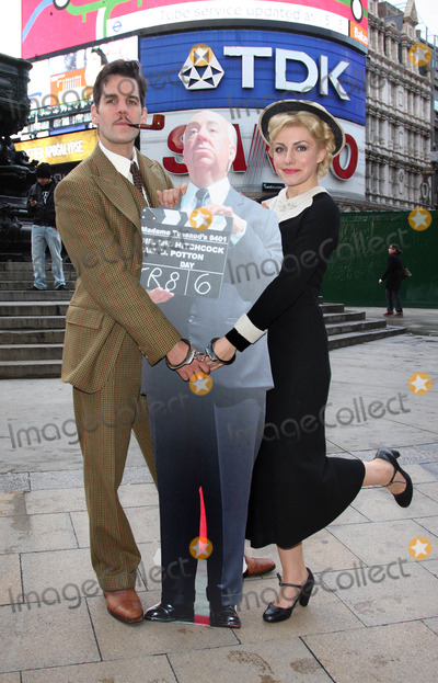 Alfred Hitchcock Photo - London UK  The cast of The 39 Steps John Hopkins and Natalie Walter   at a photocall to launch a nationwide hunt to discover Britains best Alfred Hitchcock lookalike at the Criterion Theatre Piccadilly  23rd November 2009Keith MayhewLandmark Media