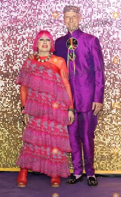 Andrew Logan Photo - London UK Zandra Rhodes Andrew Logan at Bohemian Rhapsody UK Premiere at the SSE Arena Wembley London on Tuesday 23 October 2018Ref LMK73-J2846-241018Keith MayhewLandmark MediaWWWLMKMEDIACOM