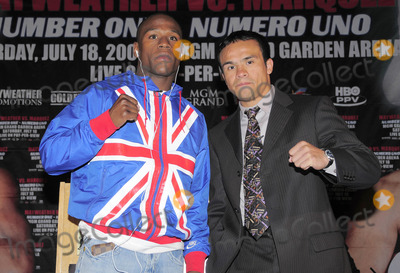 Juan Manuel Marquez Photo - London UK Floyd Mayweather and Juan Manuel Marquez announce their upcoming 12 round bout entitled MAYWEATHER vs MARQUEZ Number OneNumero Uno on Saturday July 18th at the MGM Grand Garden Arena in Las Vegas Nevada USA The event was held in Landmark Hotel London 21st May 2009Eric BestLandmark Media