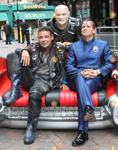 Craig Charles Photo - London UK  Robert Llewellyn (back)    Craig Charles (L)  and  Chris Barrie (R) at a Photocall for Red Dwarf X The TV series about a crew of a mining ship lost in deep space which was first broadcast on the BBC in 1988 returns for the tenth series on a different tv channel Show starts October 2012 3rd October 2012 Keith MayhewLandmark Media