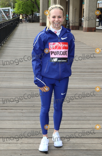 Charlotte Purdue Photo - London UK Charlotte Purdue at Elite Runners Photocall for the London Marathon 2019 outside the Tower Hotel Race HQ on April 24th 2019Ref LMK73-4803-250419Keith MayhewLandmark MediaWWWLMKMEDIACOM