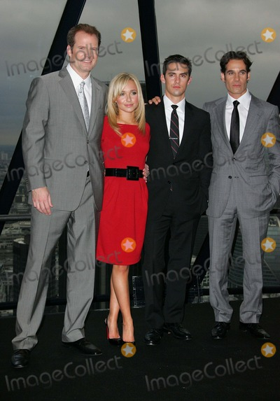Adrian Pasdar Photo - London UK  L-R  Jack Coleman  Hayden Panettiere  Milo Ventimiglia and Adrian Pasdar at the TV show  Heroes Series 2 photocall held at 30 St Marys Axe Tower (The Gherkin) London 30th August 2007 Keith MayhewLandmark Media