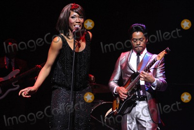 Tina Turner Photo - London UK Emi Wokoma (Tina Turner) and Chris Tummings (Ike Turner) in the musical Soul Sister at the Hackney Empire 17th April 2012Keith MayhewLandmark Media