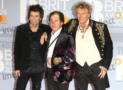 Ronnie Woods Photo - LondonUK   Ronnie Wood Sir Rod Stewart and Kenney Jones     at 40th Brit Awards Red Carpet arrivals The O2 Arena London 19th February 2020 RefLMK73-S2890-190220Keith MayhewLandmark MediaWWWLMKMEDIACOM