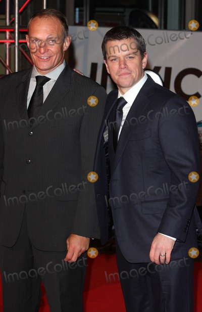 Francois Pienaar Photo - London UK Matt Damon and Francois Pienaar at the UK premiere of the film Invictus held at the Odeon West End in Leicester Square31 January 2010 Ref   Keith MayhewLandmark Media