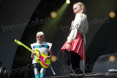 Alice Go Photo - London UK Guitarist Alice Go (L) and Lead singer Rakel Mjll of Dream Wife    of Dream Wife     performing live on stage during the All Points East Festival at Victoria Park in London 25th May 2019 RefLMK370-2481-260519Justin NgLandmark MediaWWWLMKMEDIACOM