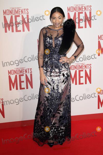 Amal Fashanu Photo - London UK Amal Fashanu at The Monuments Men UK Premiere at the Odeon Leicester Square London on February 11th 2014Ref LMK73-47321-120214Keith MayhewLandmark Media WWWLMKMEDIACOM