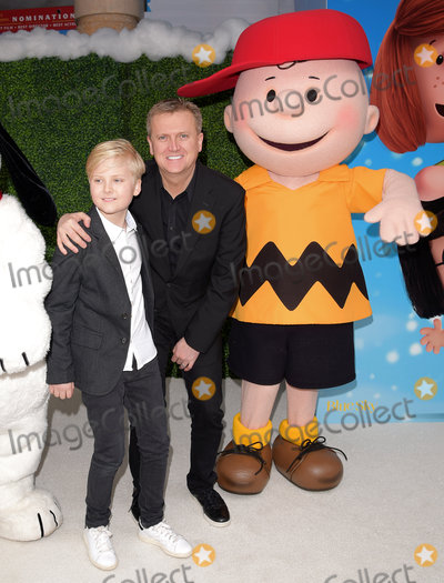 Aled Jones Photo - London UK  Lucas Jones and Aled Jones  at The UK Gala Screening of Snoopy and Charlie Brown at  The Peanuts Movie at Vue West End Leicester Square London on Saturday 28 November 2015Ref LMK392-58951-291115Vivienne VincentLandmark Media WWWLMKMEDIACOM