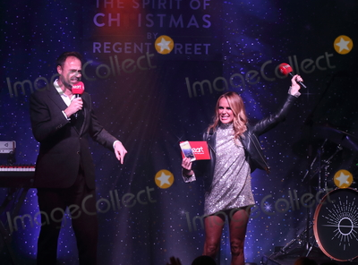 Amanda Holden Photo - London UK Jamie Theakston and Amanda Holden of The Script at Londons Premier Shopping destination Regent Street  annual Christmas Lights Switch On Event Regent Street London on November 14th 2019Ref LMK73-5793-151119Keith MayhewLandmark MediaWWWLMKMEDIACOM