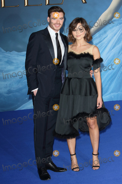Cinderella Photo - London UK Richard Madden and Jenna Louise Coleman at the UK Premiere of Cinderella at Odeon Leicester Square London on March 19th 2015Ref LMK73-50753-200315Keith MayhewLandmark Media WWWLMKMEDIACOM