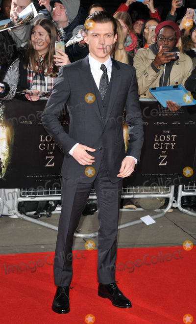 Tom Holland Photo - London UK Tom Holland at The Lost City of Z UK Premiere at the British Museum London on February 16th 201Ref LMK315-62790-170217Can NguyenLandmark MediaWWWLMKMEDIACOM