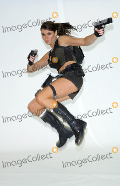 Alison Carroll Photo - London UK Alison Carroll (23 year old  gymnastic representative for Great Britain) performing an electrifying routine to show off her abilities as the newly crowned face of Lara Croft to promote forthcoming Lara Croft game Tomb Raider Underworld coming out in November 2008 The Pineapple Dance Studios Covent Garden in London UK11th August 2008Vince MaherLandmark Media2008