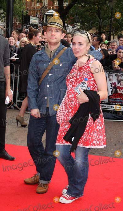Amanda Abbington Photo - London UK Martin Freeman and Amanda Abbington at the European Premiere of Scott Pilgrim vs The World held at the Empire Leicester Square London 18th August 2010Keith MayhewLandmark Media