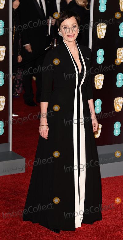 Kristin Scott Thomas Photo - London UK Kristin Scott Thomas at The EE British Academy Film Awards held at The Royal Albert Hall on Sunday 18 February 2018 Ref LMK392 -J1596-190218Vivienne VincentLandmark Media WWWLMKMEDIACOM