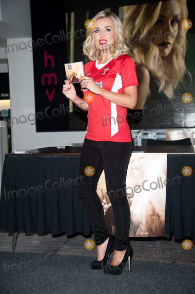 Katherine Jenkins Photo - London UK  Welsh singer Katherine Jenkins at a signing session for her new album Daydream at HMV Oxford St London UK on 14th October 2011 Jenkins is wearing a Welsh rugby jersey in support of the team who play in the World Cup Semi Finals against France   Justin NgLandmark Media