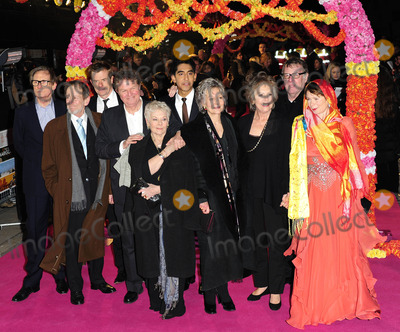 Celia Imrie Photo - London UK Bill Nighy Ronald Pickup John Madden Dev Patel Dame Judi Dench Penelope Wilton Tom Wilkinson and Celia Imrie at The Best Exotic Marigold Hotel Film Premiere held at Curzon Mayfair 7th February 2012SydLandmark Media