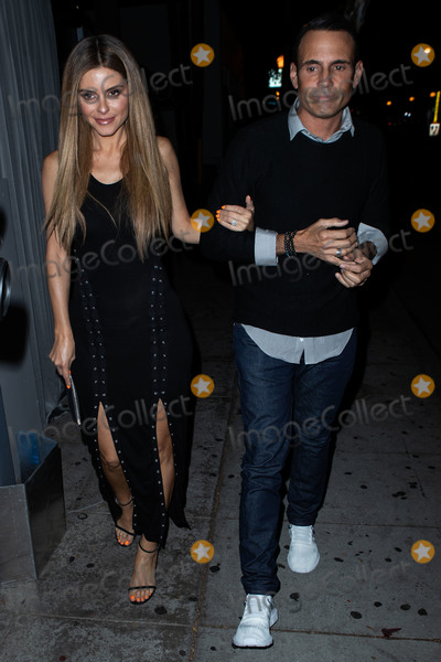 Anastasia Karanikolaou Photo - WEST HOLLYWOOD LOS ANGELES CA USA - SEPTEMBER 27 Maria Menounos and boyfriend Keven Undergaro seen arriving at the Anastasia Karanikolaou Cosmetics Launch held at Delilah on September 27 2018 in West Hollywood Los Angeles California United States (Photo by Image Press Agency)