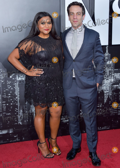 B J Novak Photo - LOS ANGELES CALIFORNIA USA - MAY 30 Mindy Kaling and B J Novak arrive at the Los Angeles Premiere Of Amazon Studios Late Night held at The Orpheum Theatre on May 30 2019 in Hollywood Los Angeles California United States (Photo by Image Press Agency)