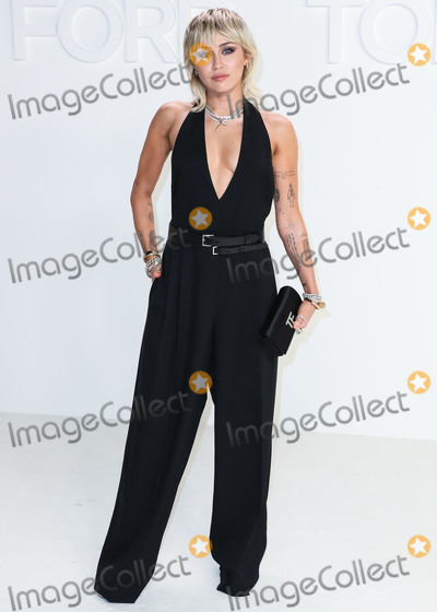 Miley Cyrus Photo - HOLLYWOOD LOS ANGELES CALIFORNIA USA - FEBRUARY 07 Miley Cyrus arrives at the Tom Ford AutumnWinter 2020 Fashion Show held at Milk Studios on February 7 2020 in Hollywood Los Angeles California United States (Photo by Xavier CollinImage Press Agency)