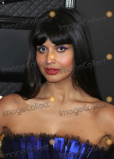 Jameela Jamil Photo - LOS ANGELES CALIFORNIA USA - JANUARY 26 Actress Jameela Jamil wearing a Georges Chakra gown arrives at the 62nd Annual GRAMMY Awards held at Staples Center on January 26 2020 in Los Angeles California United States (Photo by Xavier CollinImage Press Agency)