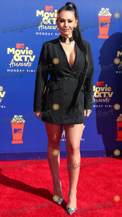 Jenni JWoww Photo - SANTA MONICA LOS ANGELES CALIFORNIA USA - JUNE 15 Television personality Jenni JWoww Farley arrives at the 2019 MTV Movie And TV Awards held at Barker Hangar on June 15 2019 in Santa Monica Los Angeles California United States (Photo by Xavier CollinImage Press Agency)