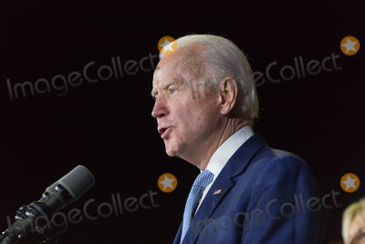 Vice President Joe Biden Photo - BALDWIN HILLS LOS ANGELES CALIFORNIA USA - MARCH 03 Former Vice President Joe Biden 2020 Democratic presidential candidate speaks during his Super Tuesday Los Angeles Rally held at the Baldwin Hills Recreation Center on March 3 2020 in Baldwin Hills Los Angeles California United States (Photo by Rudy TorresImage Press Agency)