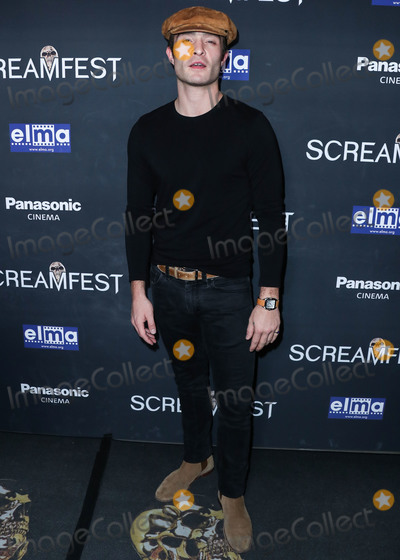 The Darkness Photo - HOLLYWOOD LOS ANGELES CALIFORNIA USA - OCTOBER 17 Actor Ed Westwick arrives at the Screamfest Closing Night Screening Of We Summon The Darkness held at TCL Chinese 6 Theatres on October 17 2019 in Hollywood Los Angeles California United States (Photo by Xavier CollinImage Press Agency)