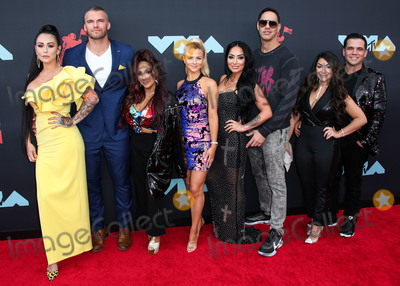 Amy Paffrath Photo - NEWARK NEW JERSEY USA - AUGUST 26 Jenni JWoww Farley Clayton Carpinello Nicole Snooki Polizzi Lauren Sorrentino Amy Paffrath Angela Pivarnick and Deena Nicole Buckner of Jersey Shore arrive at the 2019 MTV Video Music Awards held at the Prudential Center on August 26 2019 in Newark New Jersey United States (Photo by Xavier CollinImage Press Agency)