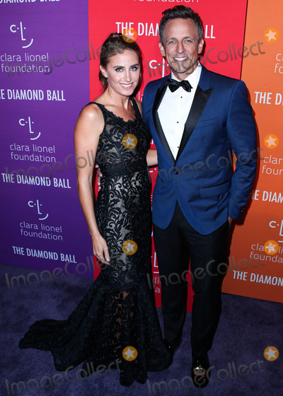 ASH Photo - MANHATTAN NEW YORK CITY NEW YORK USA - SEPTEMBER 12 Alexi Ashe and Seth Meyers wearing Dolce and Gabbana arrive at Rihannas 5th Annual Diamond Ball Benefitting The Clara Lionel Foundation held at Cipriani Wall Street on September 12 2019 in Manhattan New York City New York United States (Photo by Xavier CollinImage Press Agency)