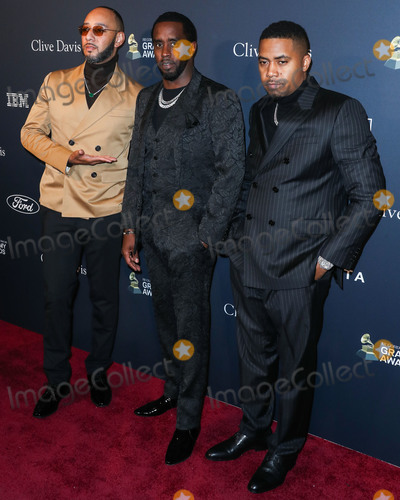 Diddy Combs Photo - BEVERLY HILLS LOS ANGELES CALIFORNIA USA - JANUARY 25 Swizz Beatz Sean Diddy Combs and Nas arrive at The Recording Academy And Clive Davis 2020 Pre-GRAMMY Gala held at The Beverly Hilton Hotel on January 25 2020 in Beverly Hills Los Angeles California United States (Photo by Xavier CollinImage Press Agency)