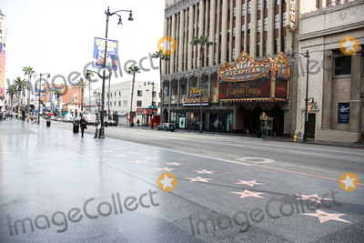 Eric Garcetti Photo - HOLLYWOOD LOS ANGELES CALIFORNIA USA - MARCH 31 A view of the Hollywood Blvd Walk Of Fame and El Capitan Theatre on March 31 2020 in Hollywood Los Angeles California United States Los Angeles tourism and entertainment industry businesses are temporarily closed amid the coronavirus COVID-19 pandemic after the Safer at Home order issued by both Los Angeles Mayor Eric Garcetti at the county level and California Governor Gavin Newsom at the state level on Thursday March 19 2020 which will stay in effect until at least April 19 2020 (Photo by Xavier CollinImage Press Agency)
