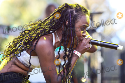 Angel Haze Photo - CALABASAS LOS ANGELES CA USA - DECEMBER 02 Rapper Angel Haze performs onstage at the One Love Malibu Festival Benefit Concert For Woolsey Fire Recovery held at the King Gillette Ranch on December 2 2018 in Calabasas Los Angeles California United States (Photo by Xavier CollinImage Press Agency)