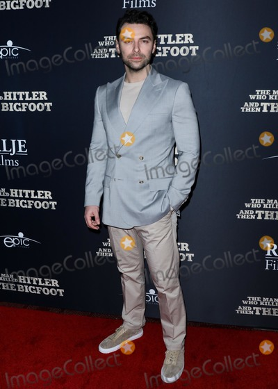 Aidan Turner Photo - HOLLYWOOD LOS ANGELES CA USA - FEBRUARY 04 Actor Aidan Turner arrives at the Los Angeles Premiere Of RLJE Films The Man Who Killed Hitler And Then Bigfoot held at ArcLight Cinemas Hollywood on February 4 2019 in Hollywood Los Angeles California United States (Photo by David AcostaImage Press Agency)