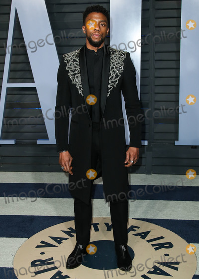 Wallis Annenberg Photo - (FILE) Chadwick Boseman Dead at 43 After Battle With Colon Cancer BEVERLY HILLS LOS ANGELES CALIFORNIA USA - MARCH 04 Actor Chadwick Boseman arrives at the 2018 Vanity Fair Oscar Party held at the Wallis Annenberg Center for the Performing Arts on March 4 2018 in Beverly Hills Los Angeles California United States (Photo by Xavier CollinImage Press Agency)