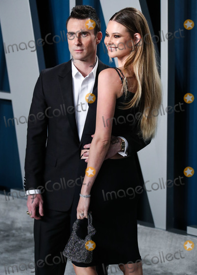 Adam Levine Photo - BEVERLY HILLS LOS ANGELES CALIFORNIA USA - FEBRUARY 09 Adam Levine and wife Behati Prinsloo arrive at the 2020 Vanity Fair Oscar Party held at the Wallis Annenberg Center for the Performing Arts on February 9 2020 in Beverly Hills Los Angeles California United States (Photo by Xavier CollinImage Press Agency)
