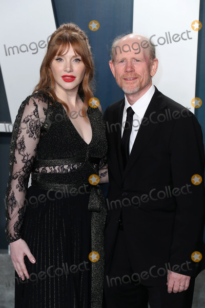 Bryce Dallas Photo - BEVERLY HILLS LOS ANGELES CALIFORNIA USA - FEBRUARY 09 Bryce Dallas Howard and Ron Howard arrive at the 2020 Vanity Fair Oscar Party held at the Wallis Annenberg Center for the Performing Arts on February 9 2020 in Beverly Hills Los Angeles California United States (Photo by Xavier CollinImage Press Agency)