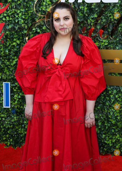 Beanie Feldstein Photo - BEVERLY HILLS LOS ANGELES CALIFORNIA USA - JANUARY 04 Actress Beanie Feldstein wearing an MSGM dress Giuseppe Zanotti shoes a Shrimps barrette and earrings arrives at the 7th Annual Gold Meets Golden Event held at Virginia Robinson Gardens and Estate on January 4 2020 in Beverly Hills Los Angeles California United States (Photo by Xavier CollinImage Press Agency)