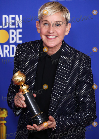 Isaach De Bankol Photo - BEVERLY HILLS LOS ANGELES CALIFORNIA USA - JANUARY 05 Comedian Ellen DeGeneres wearing Celine poses in the press room at the 77th Annual Golden Globe Awards held at The Beverly Hilton Hotel on January 5 2020 in Beverly Hills Los Angeles California United States (Photo by Xavier CollinImage Press Agency)