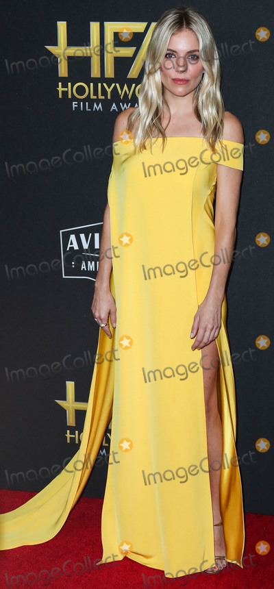 Sienna Miller Photo - BEVERLY HILLS LOS ANGELES CALIFORNIA USA - NOVEMBER 03 Actress Sienna Miller wearing a Cong Tri dress arrives at the 23rd Annual Hollywood Film Awards held at The Beverly Hilton Hotel on November 3 2019 in Beverly Hills Los Angeles California United States (Photo by Xavier CollinImage Press Agency)
