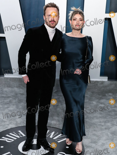 Aaron Paul Photo - BEVERLY HILLS LOS ANGELES CALIFORNIA USA - FEBRUARY 09 Aaron Paul and Lauren Parsekian arrive at the 2020 Vanity Fair Oscar Party held at the Wallis Annenberg Center for the Performing Arts on February 9 2020 in Beverly Hills Los Angeles California United States (Photo by Xavier CollinImage Press Agency)
