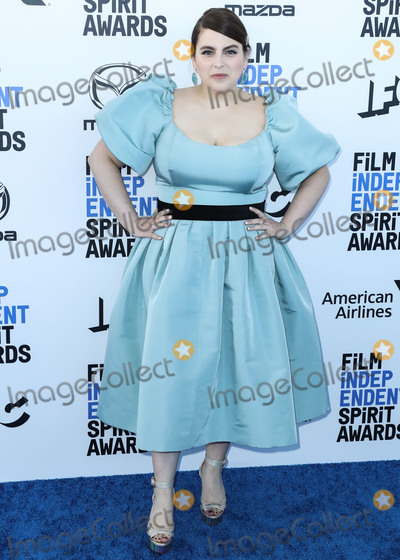Jewel Photo - SANTA MONICA LOS ANGELES CALIFORNIA USA - FEBRUARY 08 Actress Beanie Feldstein wearing a custom Markarian dress Christian Louboutin shoes and Irene Neuwirth jewels arrives at the 2020 Film Independent Spirit Awards held at the Santa Monica Beach on February 8 2020 in Santa Monica Los Angeles California United States (Photo by Xavier CollinImage Press Agency)